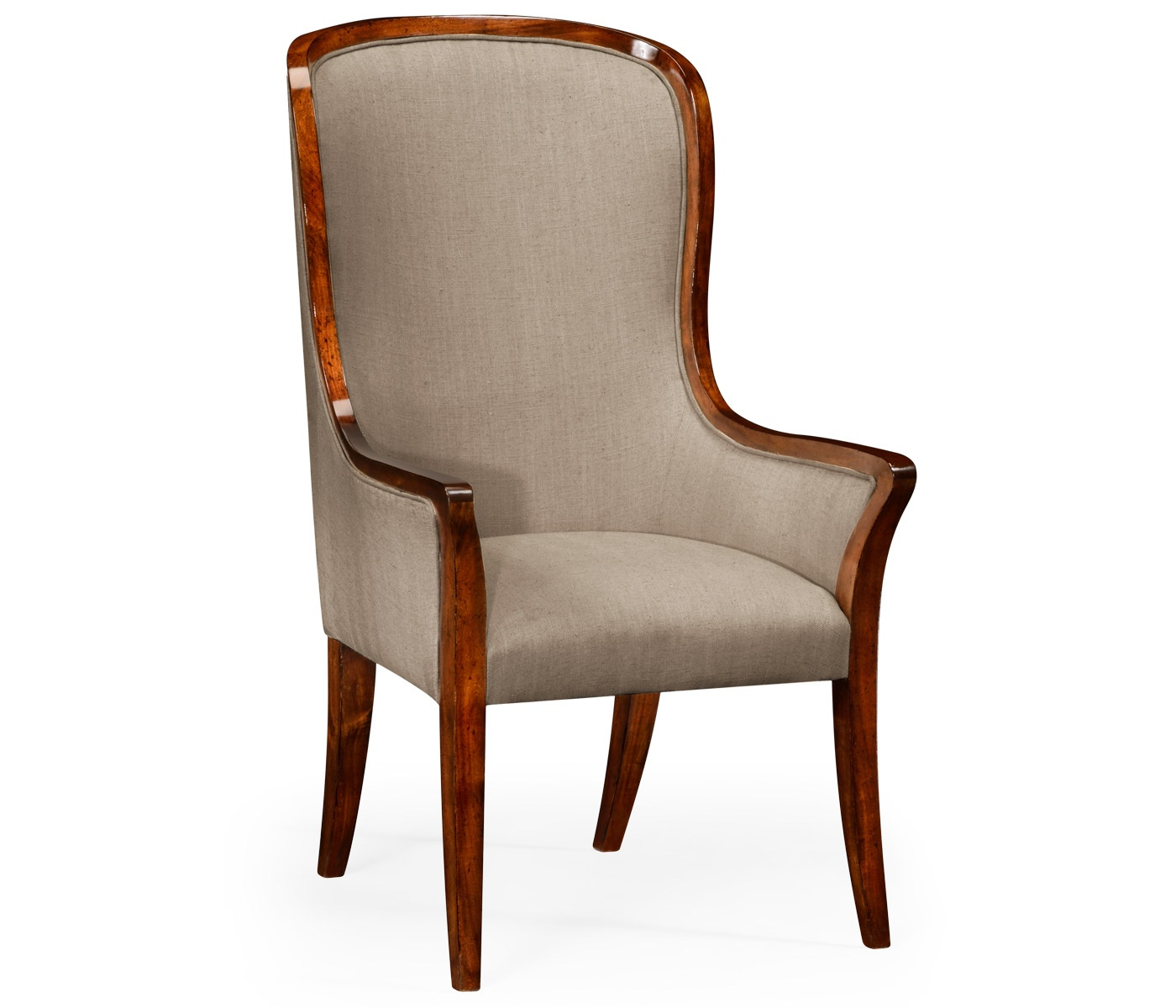 High Dining Room Chairs: High Back Upholstered Dining Armchair