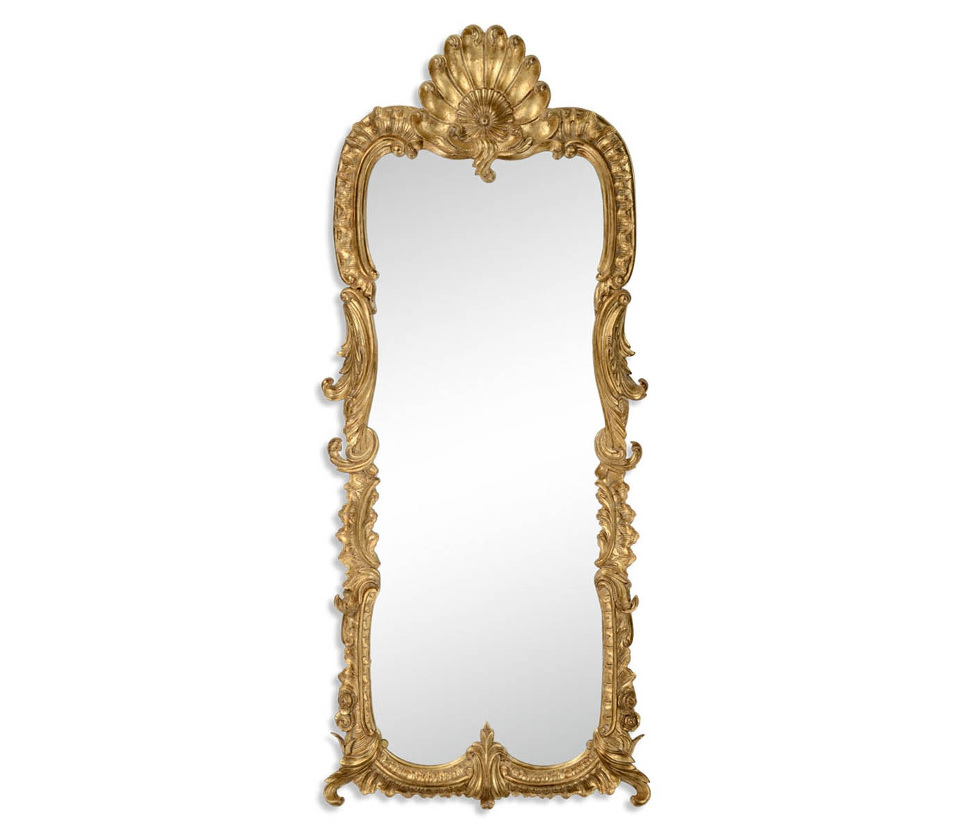 Tall Carved Gold Rococo Style Mirror Swanky Interiors