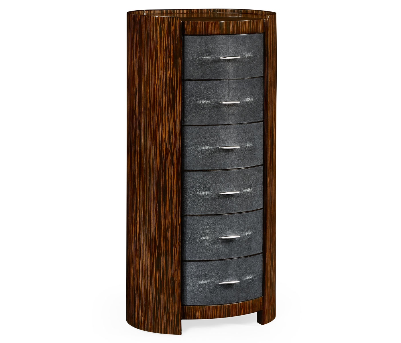Art Deco Leather Chest Of Drawers Tallboy Swanky Interiors