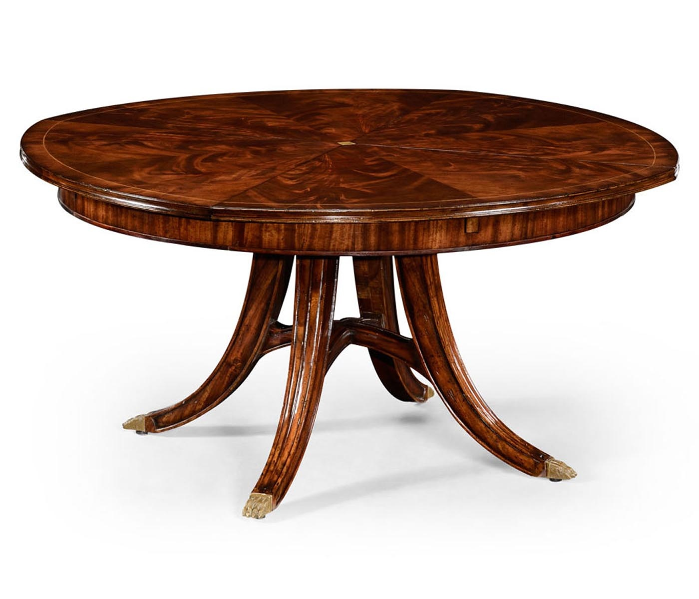 8 10 seater round extending dining table swanky interiors for Round dining table