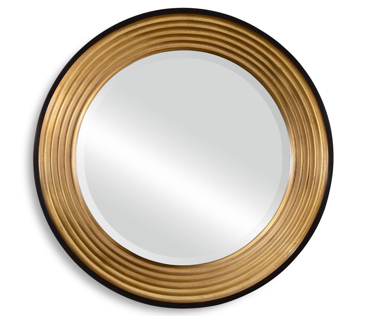 Art Deco Round Gold Mirror Swanky Interiors