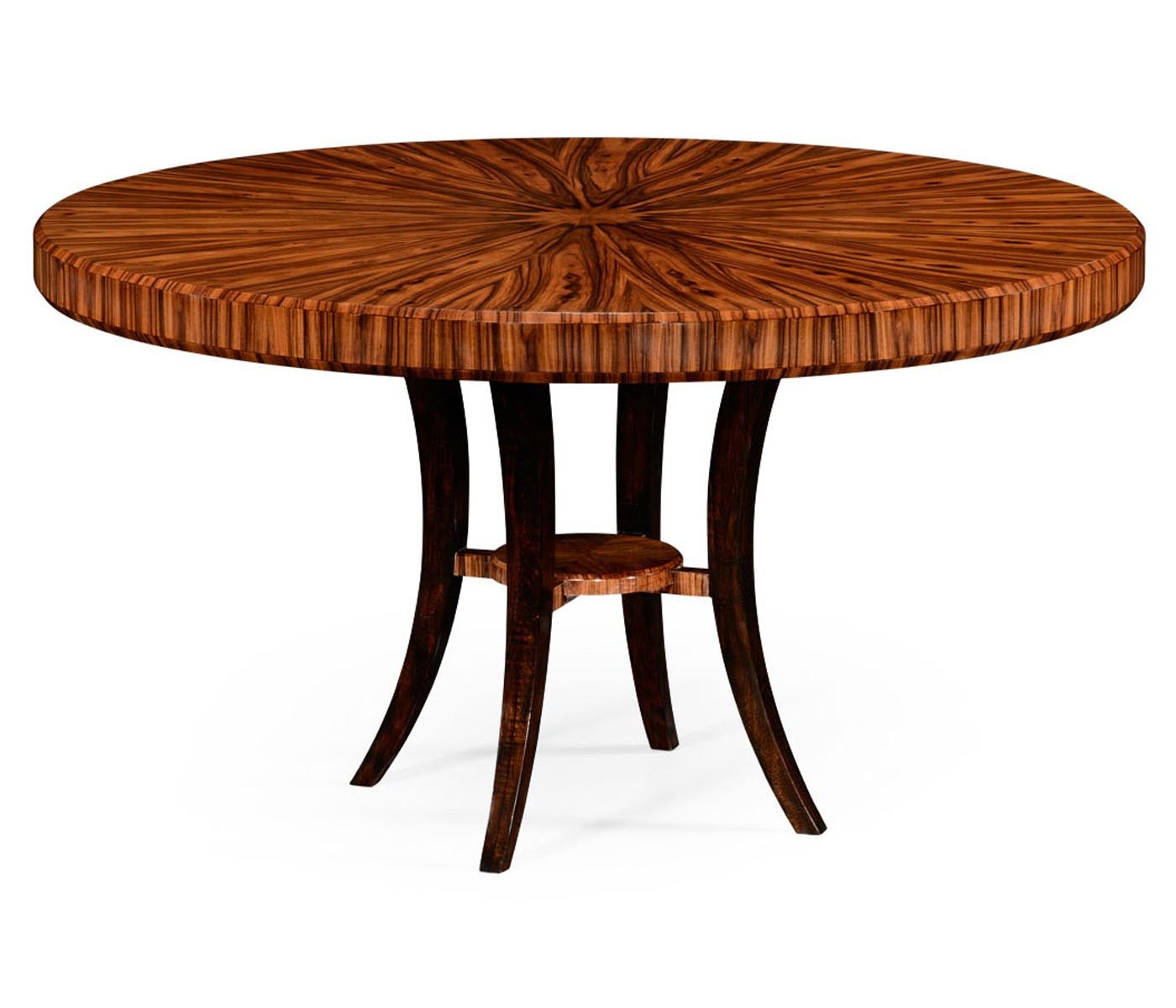 6 Seater Round Dining Table: 6 Seater Art Deco Round Dining Table 54''