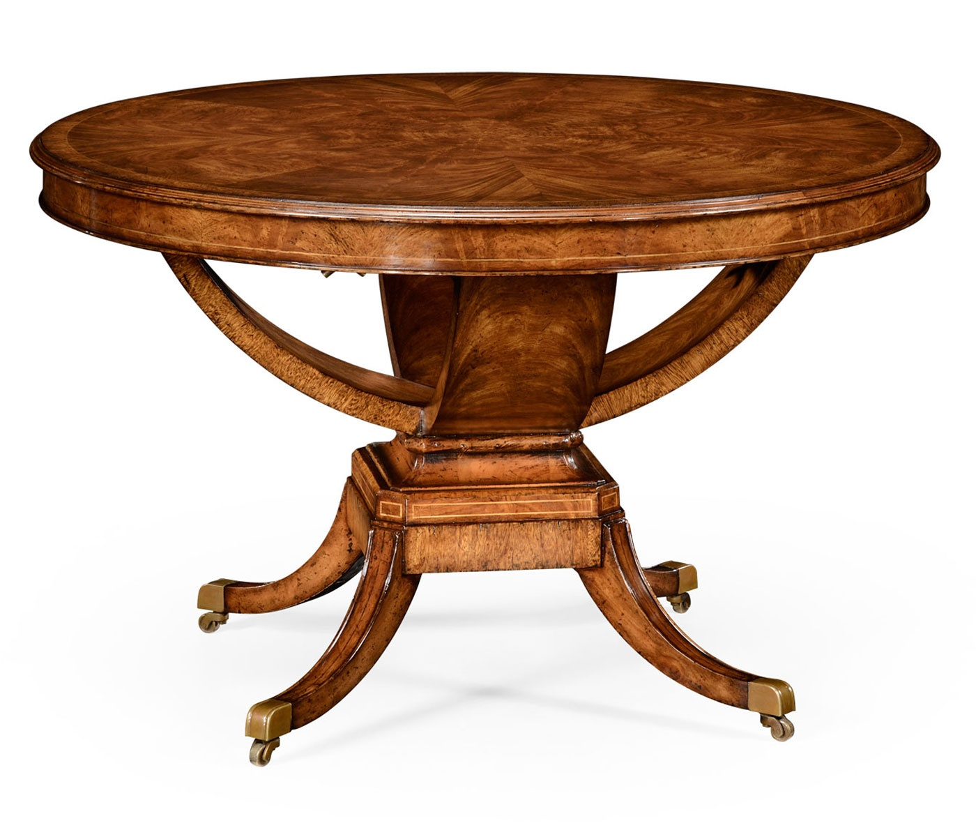 6 seater round dining table walnut swanky interiors. Black Bedroom Furniture Sets. Home Design Ideas