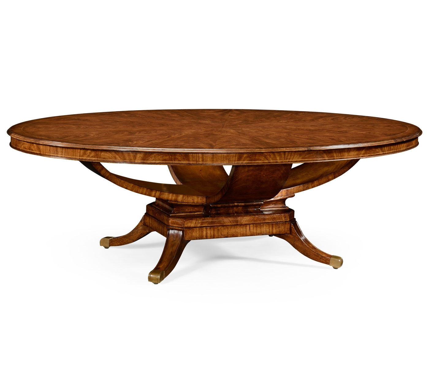8 seater oval dining table walnut swanky interiors for Oval dining table