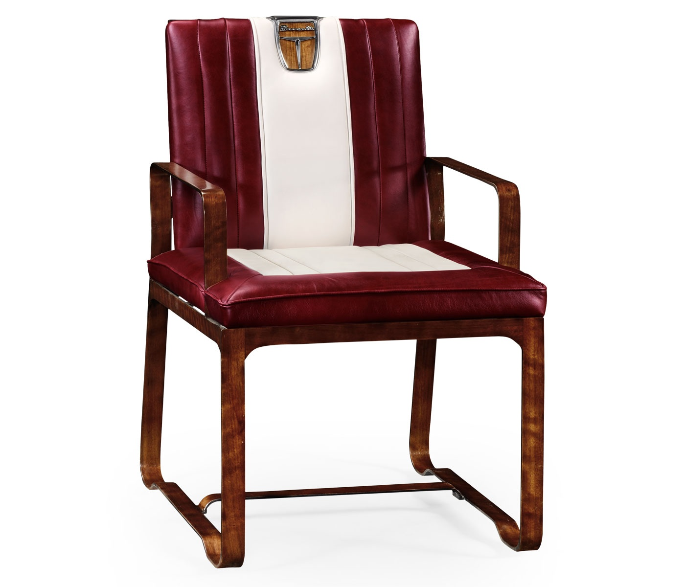 Red Leather Armchair 50 S Americana Swanky Interiors