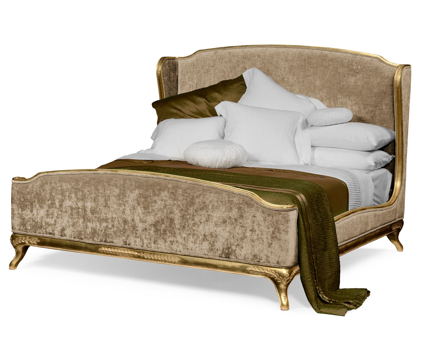 Picture of: French Velvet Upholstered Bed Kingsize Swanky Interiors