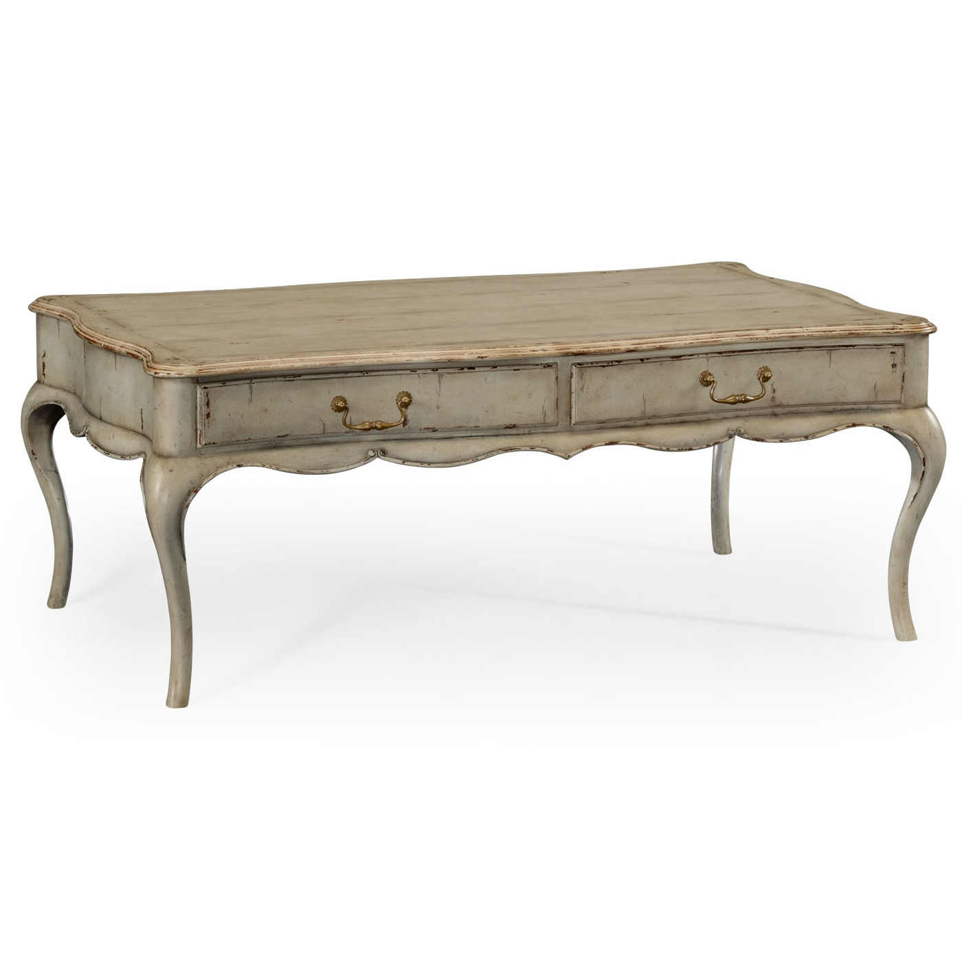 French Grey Painted Coffee Table Swanky Interiors