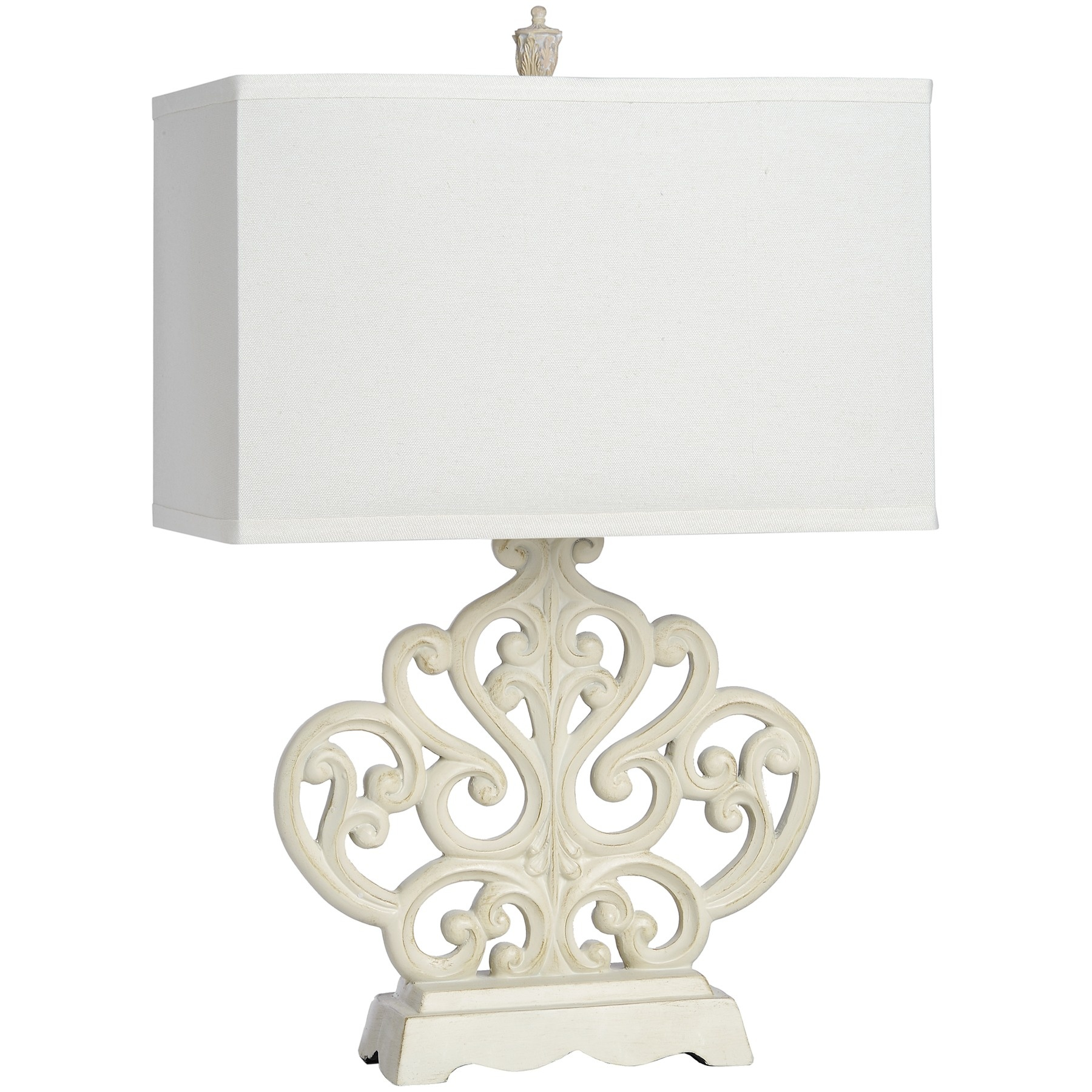 Buy French Country Table Lamp, Rectangular | Swanky Interiors