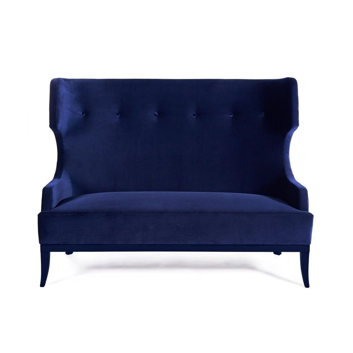 2 seat sofa blue designer furniture swanky interiors for Trendy furniture