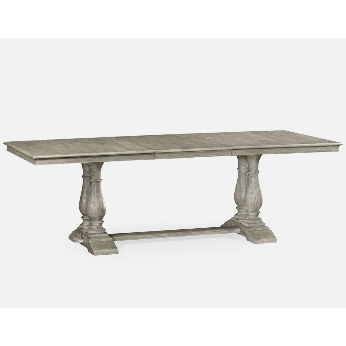 Dining Tables Rustic: Rustic Grey Rectangular Extending Dining Table