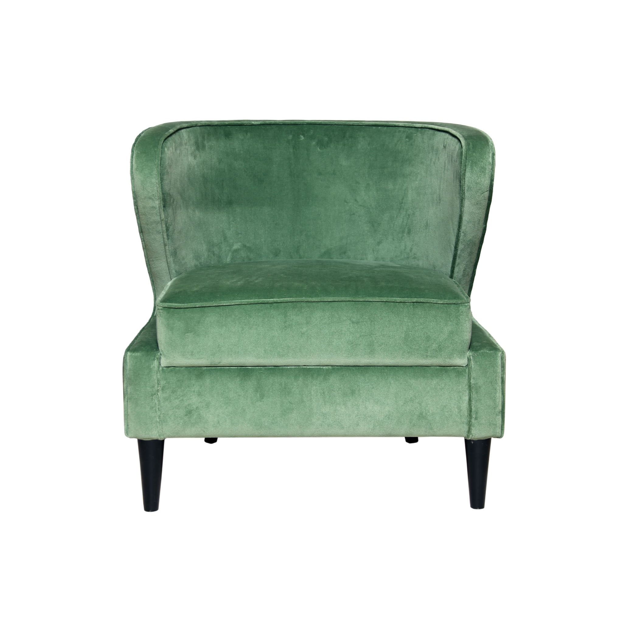 Wingback Chair Green Tub Chair Velvet Swanky Interiors
