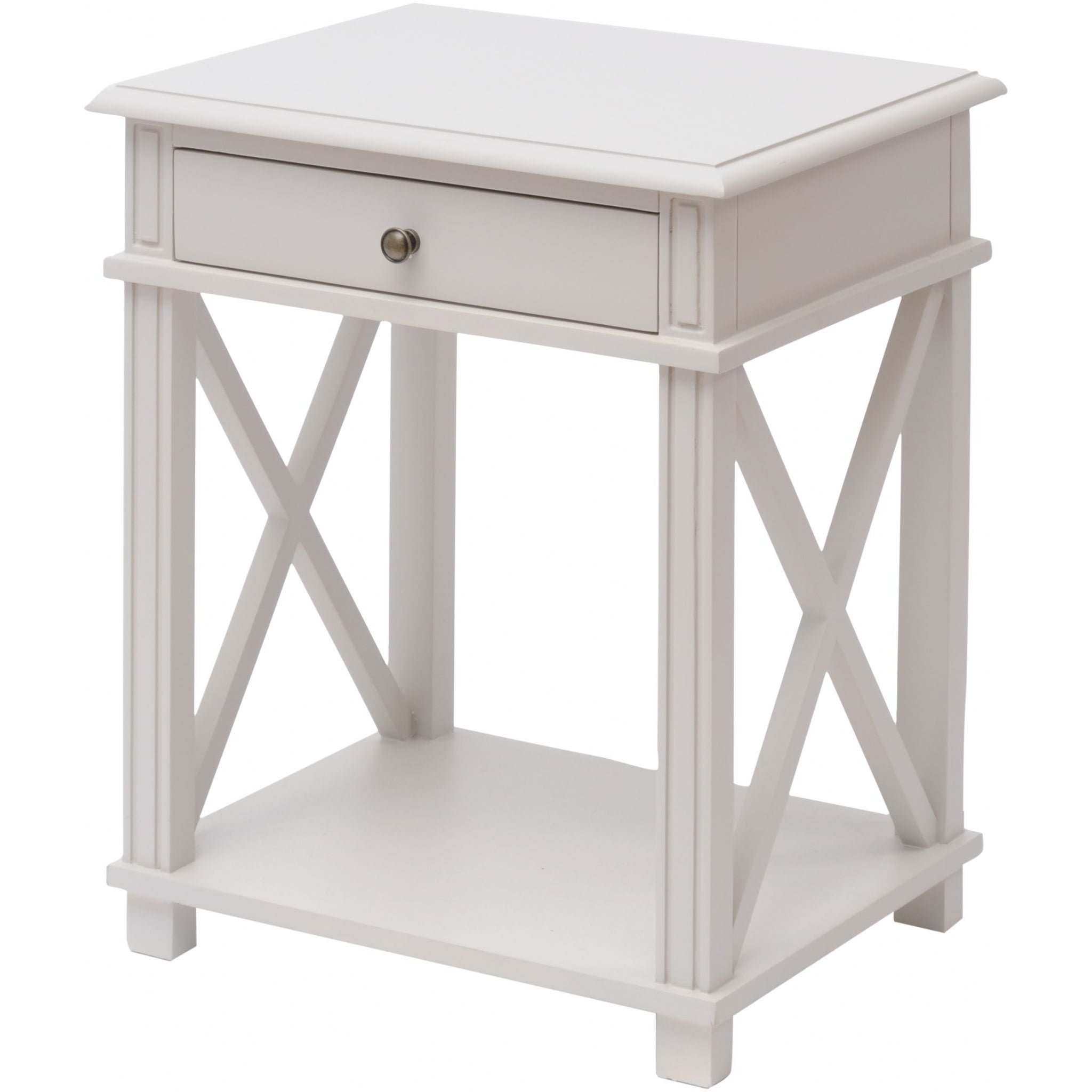 painted grey bedside table swanky interiors. Black Bedroom Furniture Sets. Home Design Ideas