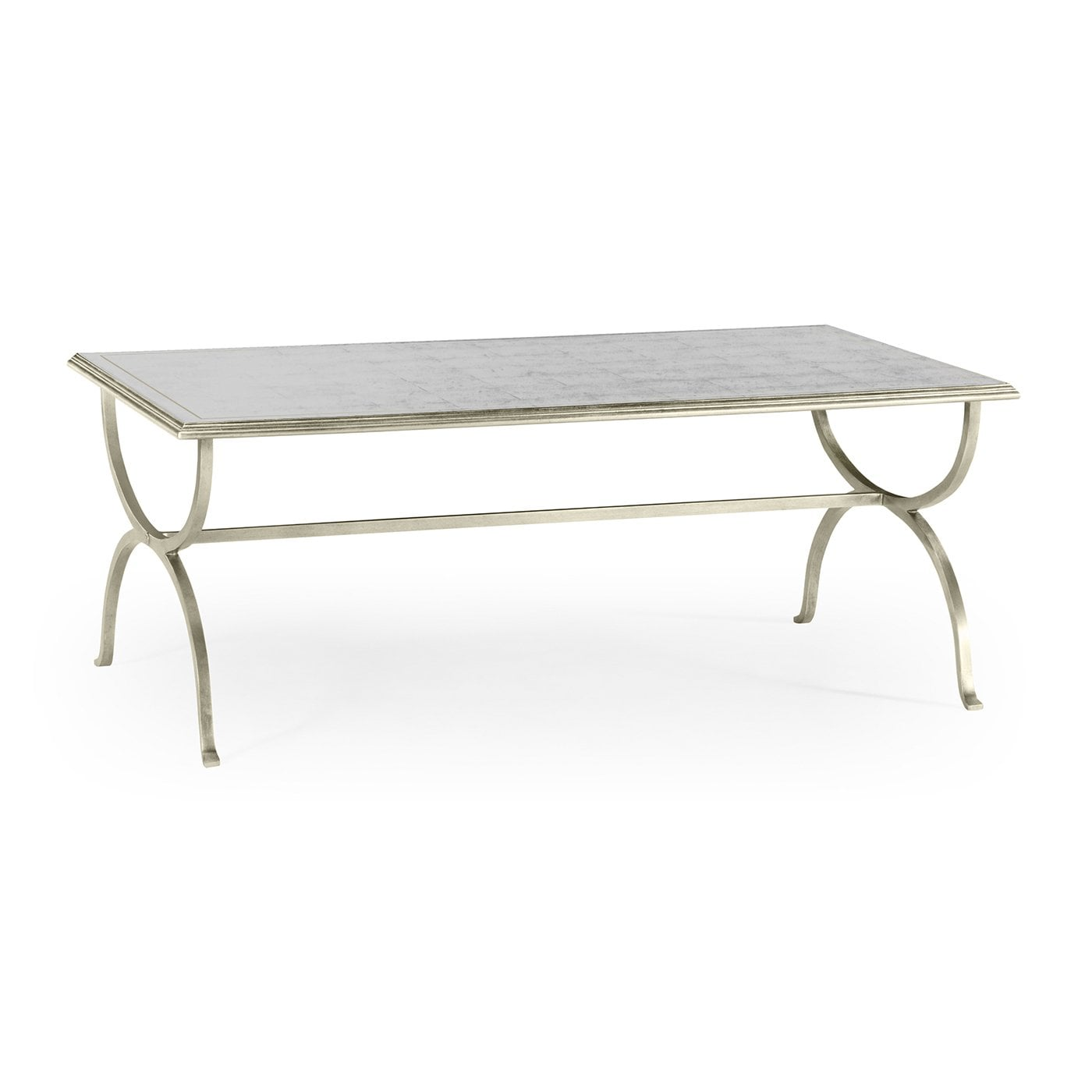 Designer Silver Mirrored Coffee Table Swanky Interiors