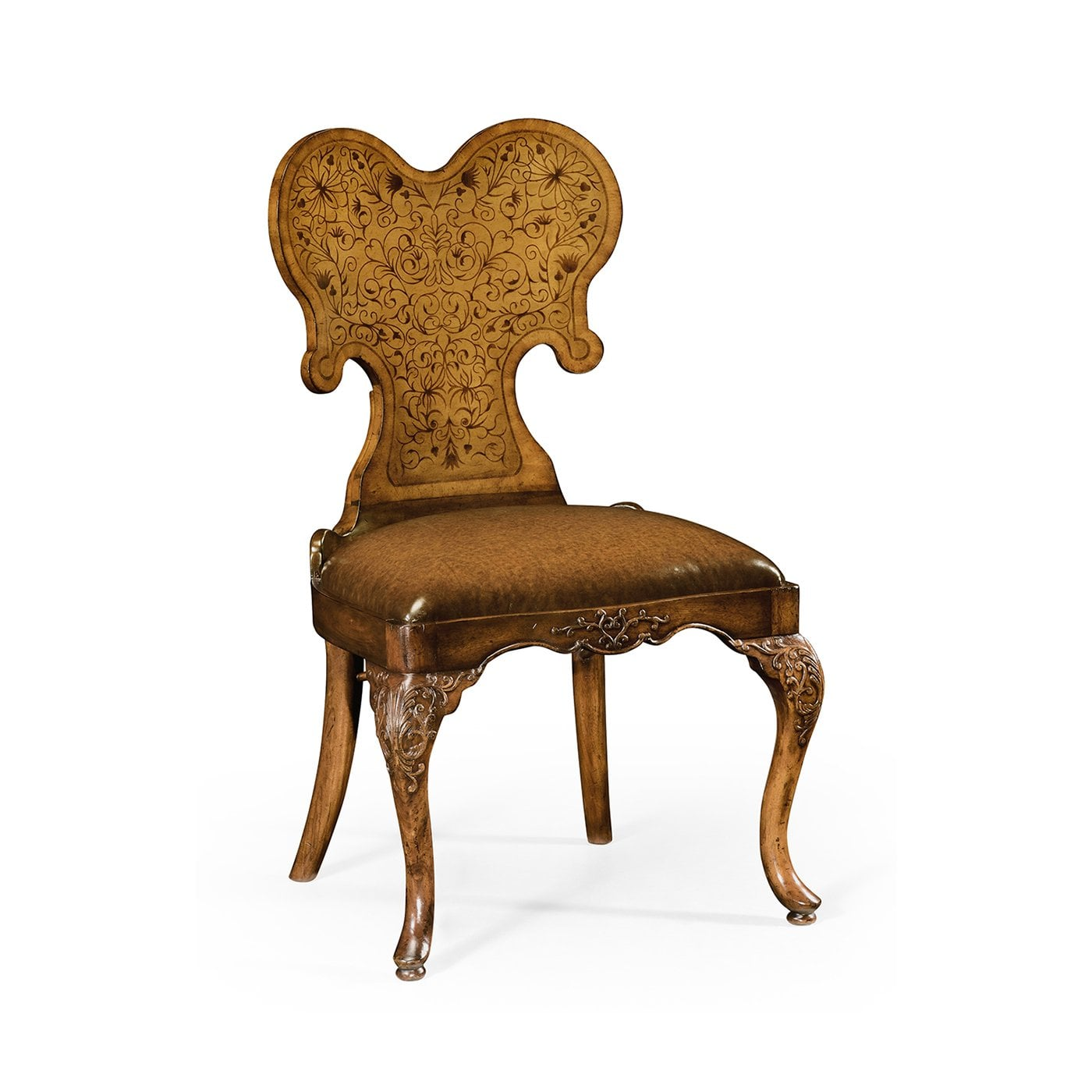 Unique Walnut Accent Leather Chair Swanky Interiors
